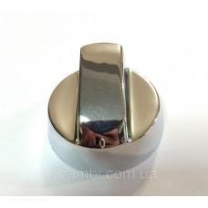 Ручка регулировки для плит серебристая (5 переходников в комплекте) универсальная
